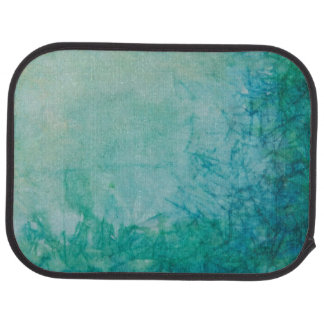 Paper With Blue, Green, And Black Paint Abstract Floor Mat