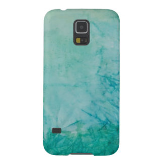 Paper With Blue, Green, And Black Paint Abstract Galaxy S5 Case