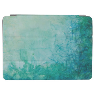 Paper With Blue, Green, And Black Paint Abstract iPad Air Cover