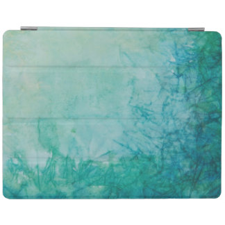 Paper With Blue, Green, And Black Paint Abstract iPad Cover