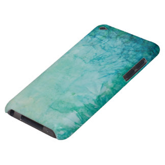 Paper With Blue, Green, And Black Paint Abstract iPod Case-Mate Cases