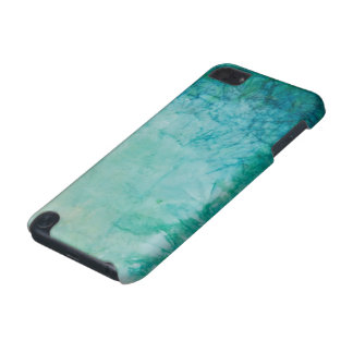 Paper With Blue, Green, And Black Paint Abstract iPod Touch 5G Case