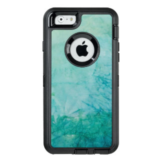 Paper With Blue, Green, And Black Paint Abstract OtterBox Defender iPhone Case