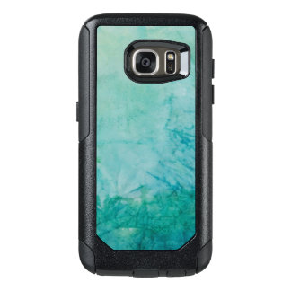 Paper With Blue, Green, And Black Paint Abstract OtterBox Samsung Galaxy S7 Case