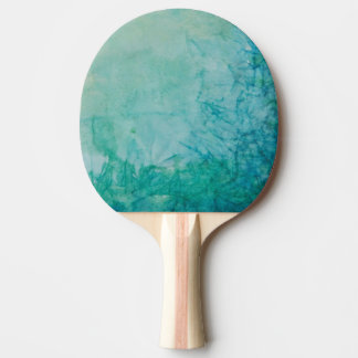 Paper With Blue, Green, And Black Paint Abstract Ping Pong Paddle