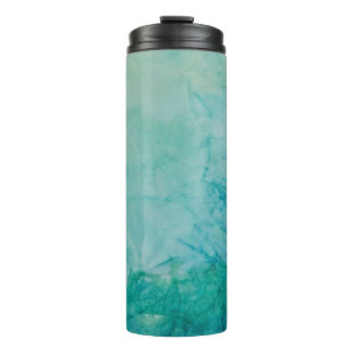 Paper With Blue, Green, And Black Paint Abstract Thermal Tumbler