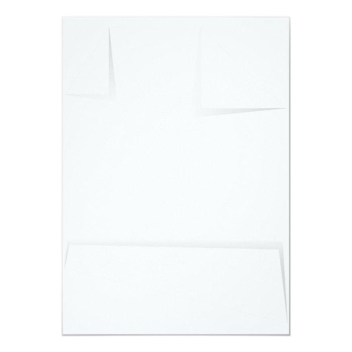 Paper With Folded Corners 13 Cm X 18 Cm Invitation Card