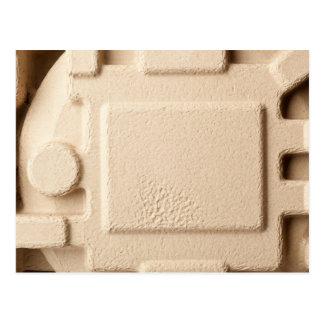 Paperboard mold pattern postcard