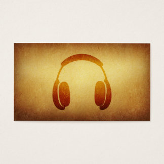 Papered Archive Deejay Headphone Business Card