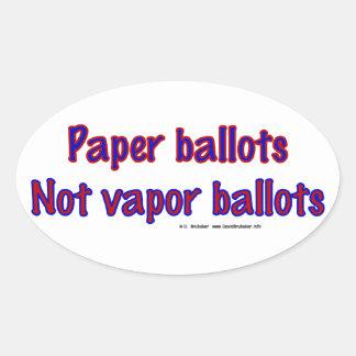 PaperNotVapor Oval Stickers