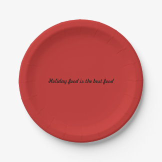 Papers placard (s) Holiday food are the best food Paper Plate