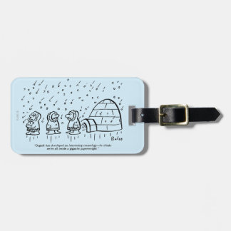 Paperweight Luggage Tag
