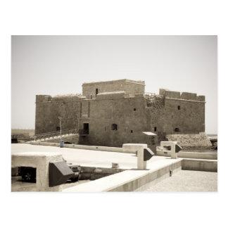 paphos castle postcard