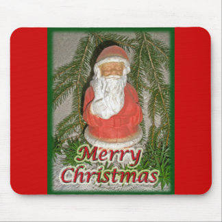 Papier Mache Christmas Santa Matching Items Mouse Pad