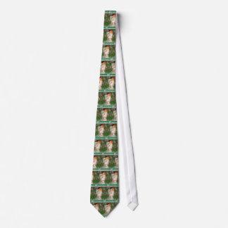 Papier Mache White Coated Santa Christmas Tie