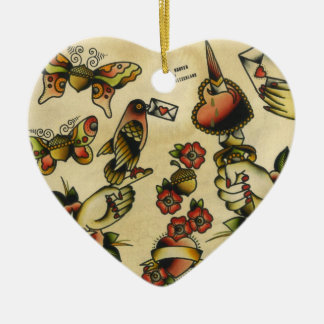 papigland ceramic heart decoration
