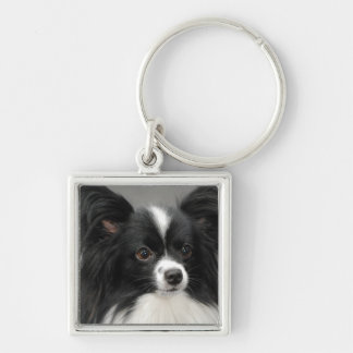 papillon-17.jpg Silver-Colored square key ring
