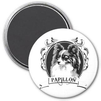 PAPILLON (2) 7.5 CM ROUND MAGNET
