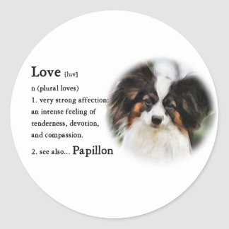 Papillon Art Gifts Round Sticker