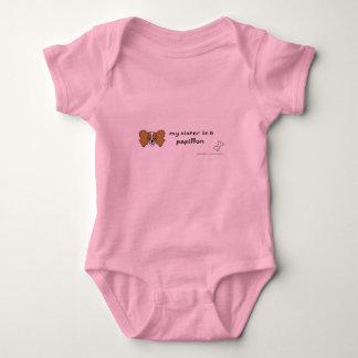 papillon baby bodysuit