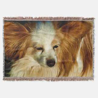 Papillon Beauty   -   Dog Breed Throw Blanket