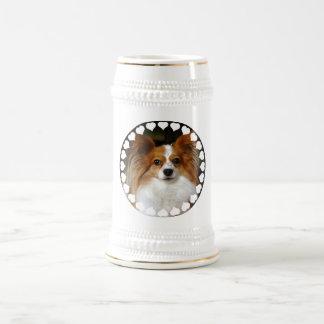 Papillon Beer Stein Coffee Mug