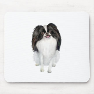Papillon (black and white) mouse pad