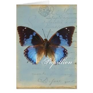 Papillon bleu blank card