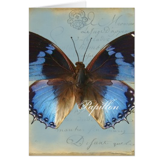 Papillon bleu card