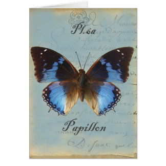 Papillon bleu Happy Birthday Card