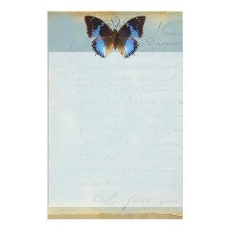 Papillon bleu stationery