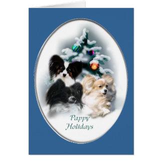 Papillon Christmas Gifts Card