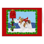 Papillon Christmas Mail Sable Cards