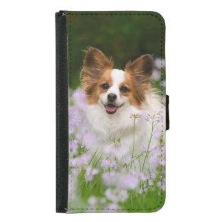 Papillon Cute Dog Romantic Galaxy S5 Wallet Case