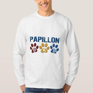 PAPILLON Dad Paw Print 1 Shirt