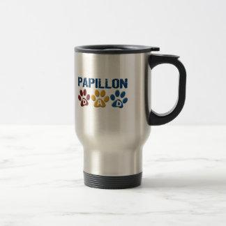 PAPILLON Dad Paw Print 1 Stainless Steel Travel Mug