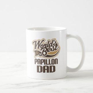 Papillon Dad (Worlds Best) Basic White Mug
