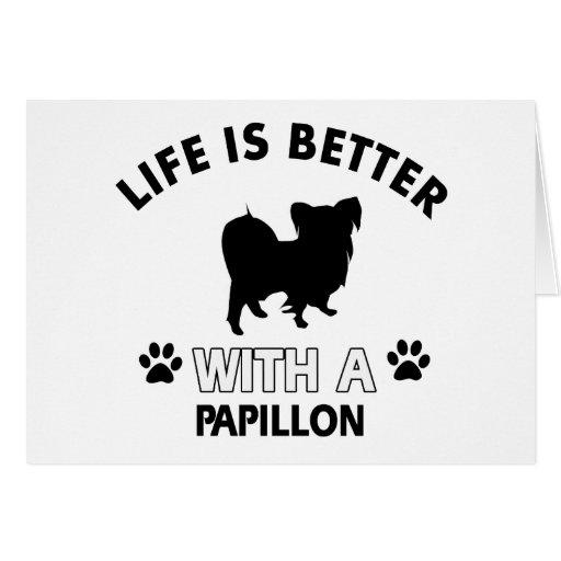Papillon dog breed designs greeting card