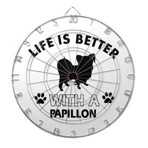 Papillon dog breed designs dartboard
