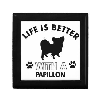 Papillon dog breed designs jewelry box