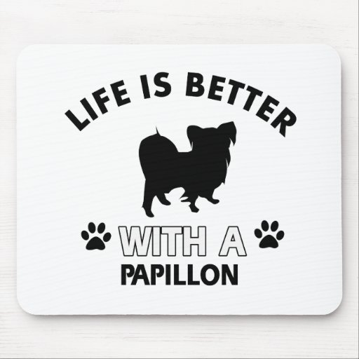 Papillon dog breed designs mousepad