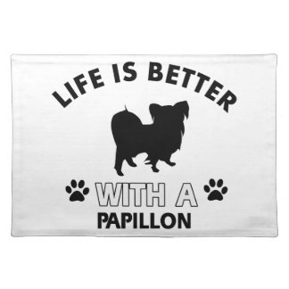 Papillon dog breed designs placemat