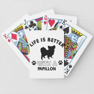 Papillon dog breed designs bicycle playing cards