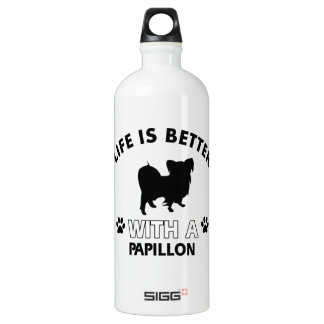 Papillon dog breed designs SIGG traveller 1.0L water bottle