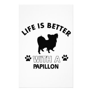 Papillon dog breed designs customized stationery