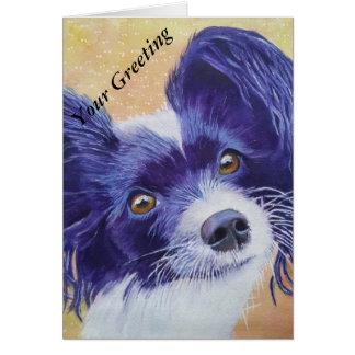 Papillon Dog Card