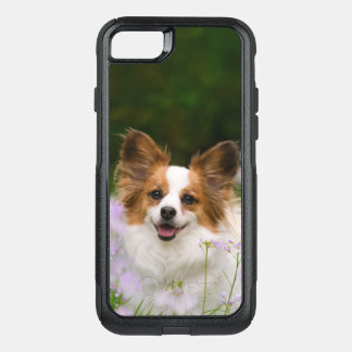 Papillon Dog Cute Romantic Pet Photo Animal - on OtterBox Commuter iPhone 7 Case