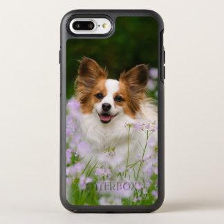 Papillon Dog Cute Romantic Photo on Protection OtterBox Symmetry iPhone 8 Plus/7 Plus Case
