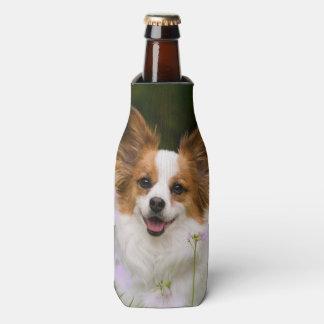 Papillon Dog Cute Romantic Portrait  Bottle-Jacket