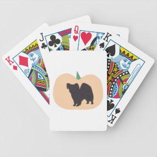 Papillon Dog Halloween Playing Cards
